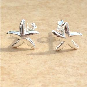 Jewelry - Sterling Silver Beach Starfish Stud Earrings